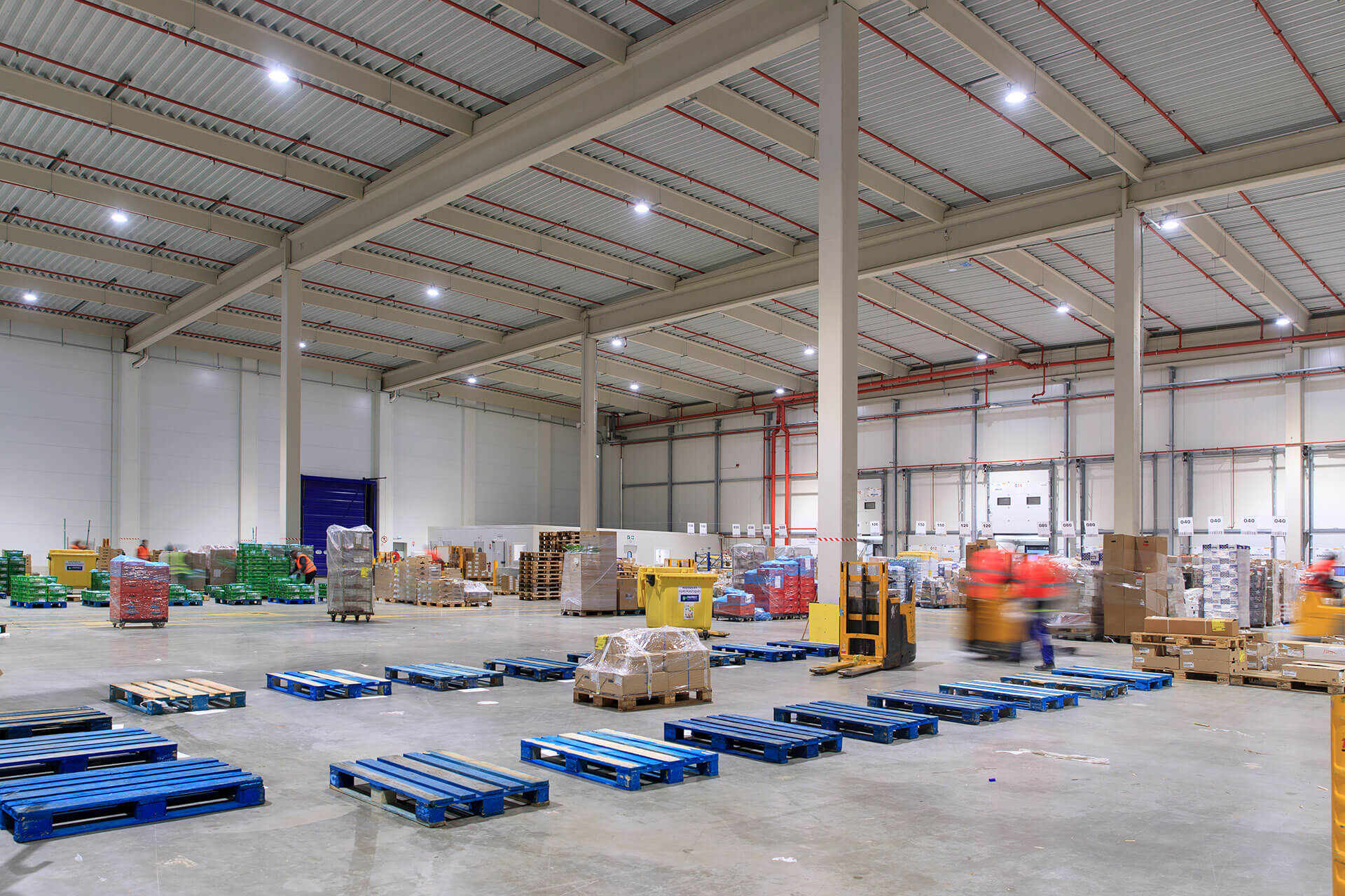 INDU BAY provides a bright white light for excellent visibility, for busy staff at Carrefour distribution centre