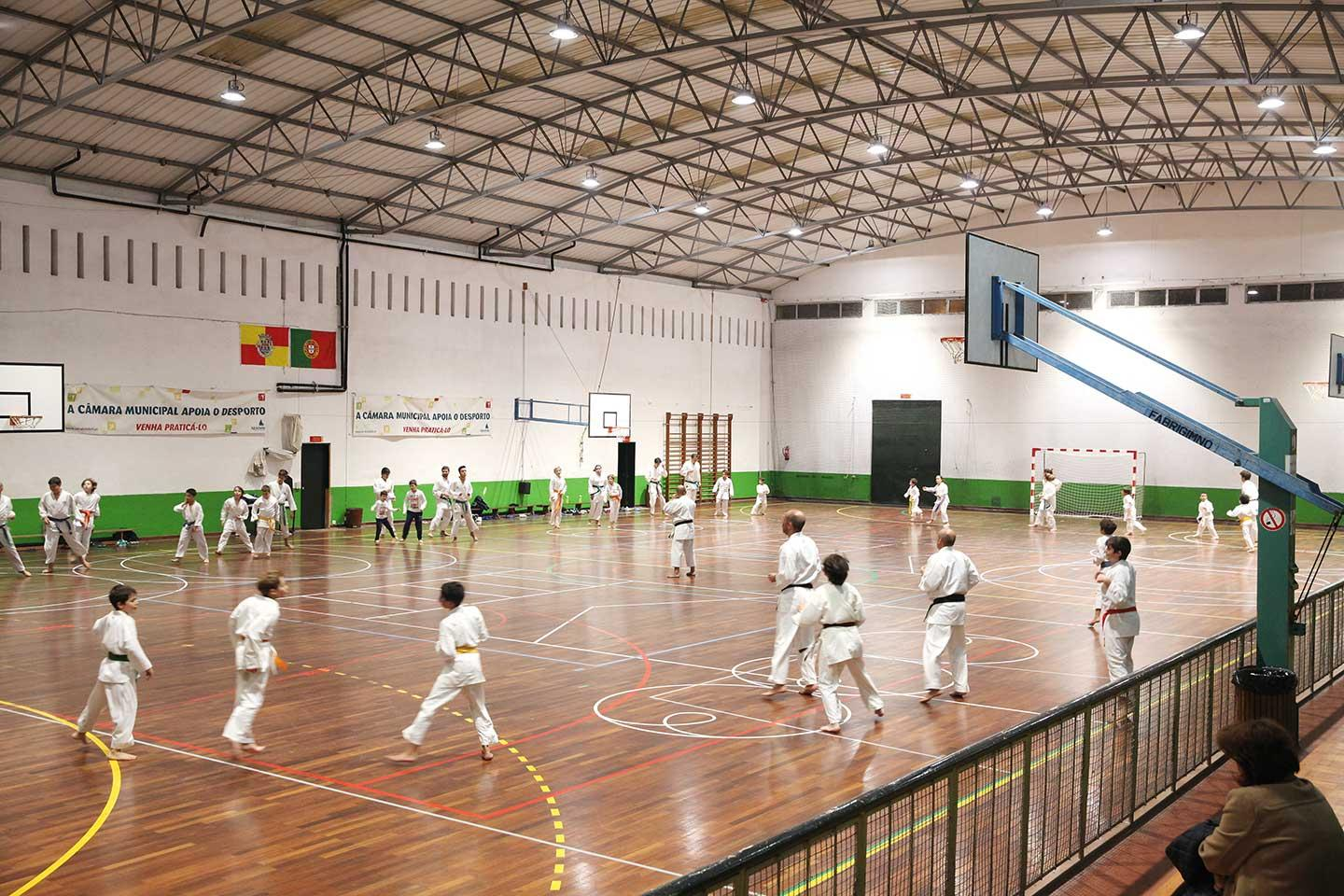 Schréder sports lighting solution has improved visibility in Alcochete Municipal Pavilion, providing a much better facility for the local community